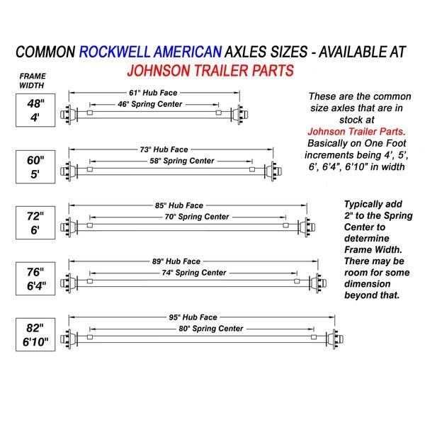 3 500 Lb Idler Trailer Axle Running Gear Set W Hangers Trailer Axles Johnson Trailer Trailer Kits