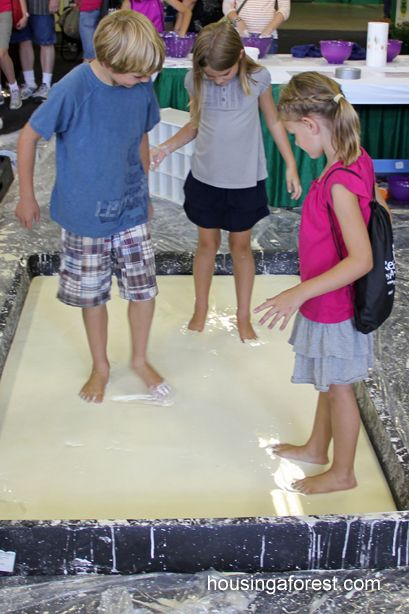 Running on Oobleck.........I wonder how much cornstarch this took???!!!!   Basic recipe for Oobleck  1.5 cups of Cornstarch 1 cup of Water