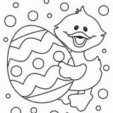 Free Easter Egg and Chick Coloring Page