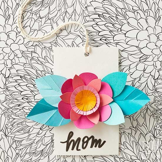 DIY a beautiful blooming Mother's Day card with these easy-to-follow steps. Colorful cardstock is all you need to brighten her day with a handmade card that's sure to make her smile. #diy #mothersdaycard #mothersday
