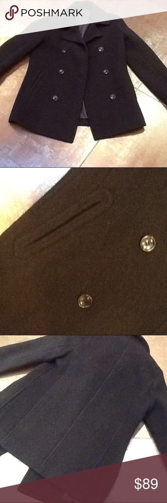 Uniglo Black pea coat uniglo Jackets & Coats Pea Coats
