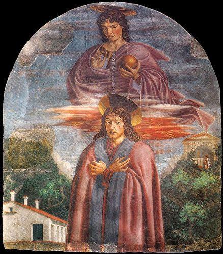 Andrea del Castagno (St Julian and the Redeemer)  ANDREA DEL CASTAGNO Andrea di Bartolo di Bargilla detto Andrea del Castagno (Castagno, 1421 circa – Firenze, 1457)   #TuscanyAgriturismoGiratola