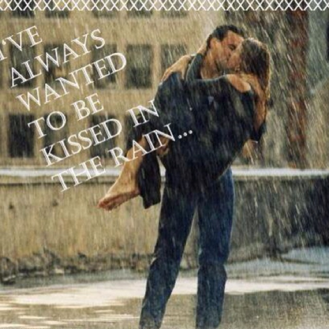 kissed in the rain...