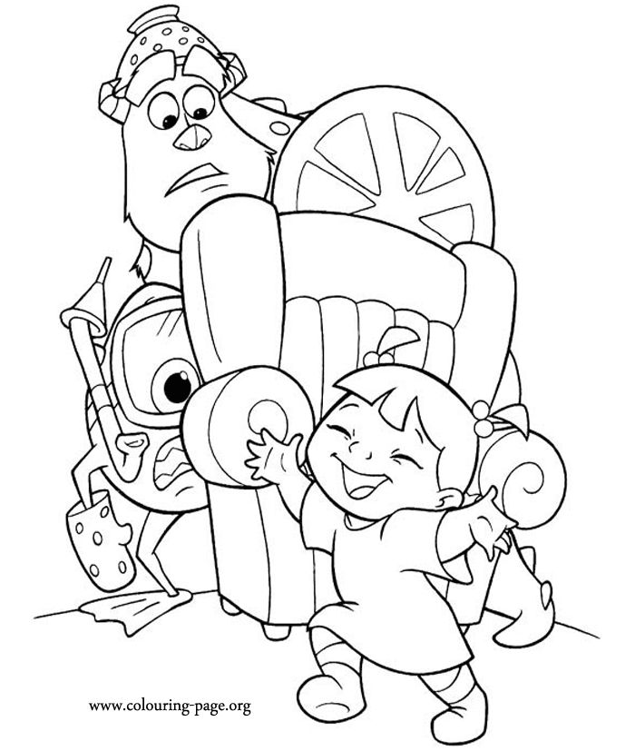 46 best disney coloring pages images on pinterest | drawings ... - Monsters Coloring Pages Sully