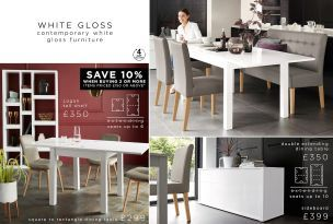 Buy White Gloss Double Extending Dining Table from the Next UK online shop