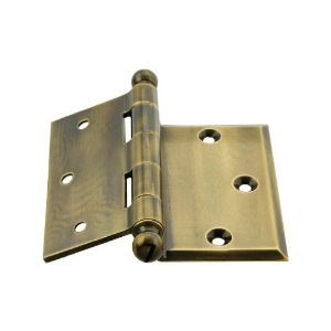 3 1 2 Quot Brass Half Mortise Door Hinge Antique Brass