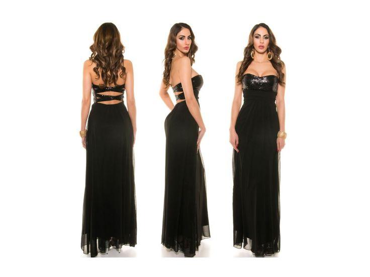 Černé společenské šaty SKLADEM - black prom dres in stock