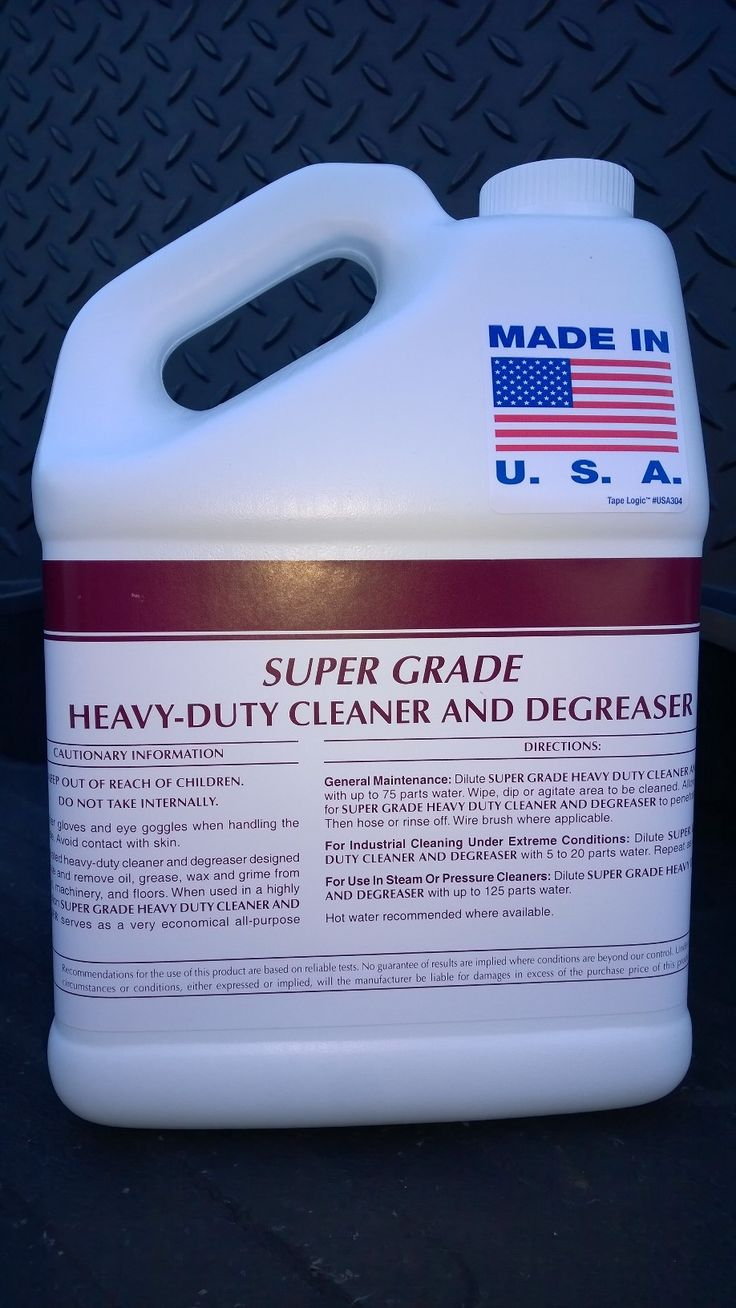 Super grade heavy duty cleaner degreaser rinses clean for Concrete cleaner degreaser