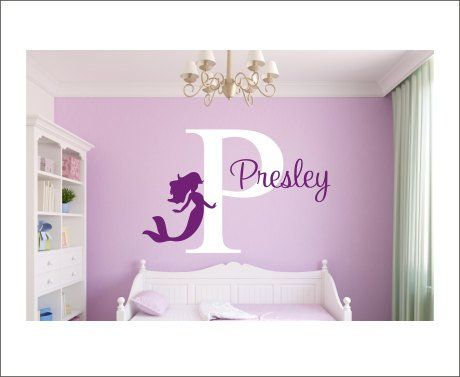 Best Beautiful Mermaid Wall Decals Personalized Name Wall Decal 400 x 300