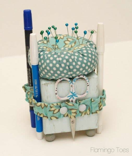 Cute Little Sewing Tool Caddy » Flamingo Toes