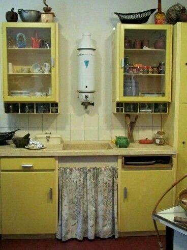 Geiser in vroegere keukens