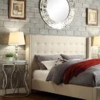 Franklin Park Oatmeal King Upholstered Bed
