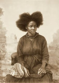Black woman with comb.  (Martinique, c1900)  Photographer unknown.