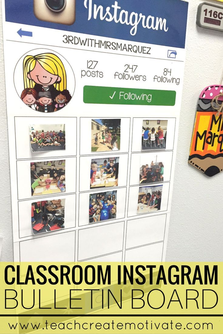 Want a fun way to display classroom photos in your classroom? Check out this modern day bulletin board!!