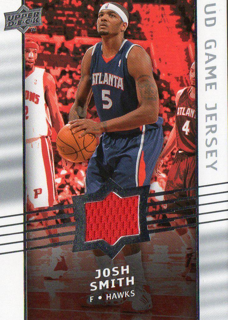 2008-09 Upper Deck Josh Smith Game Jersey Atlanta Hawks