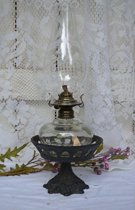1000 ideas about iron table on pinterest wrought iron for Wooden kerosene lamp holder