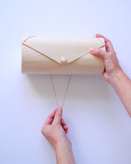 Wood veneer box tutorial--crazy easy to make.