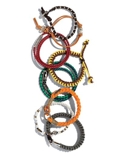 """GQ: """"Equal parts surf culture and Milanese gent inspiration.""""  ***""""Friendship bracelets for all my friends. Friendship bracelets for all my haters."""""""