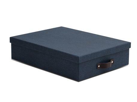 Blå arkivkasse. Køb stilet arkivboks i A4 størrelse  89kr