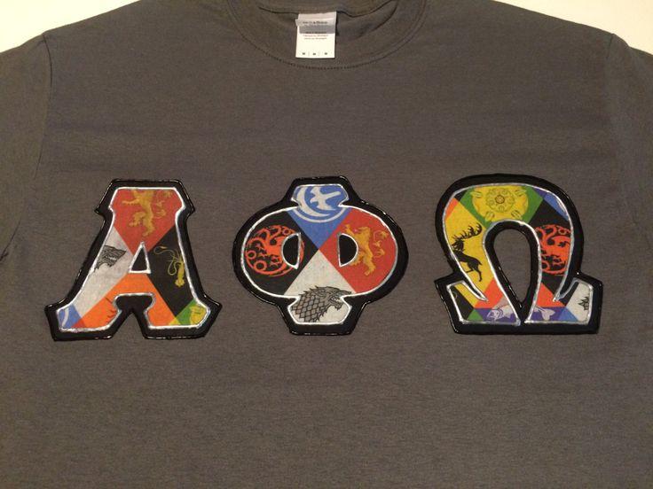 CUSTOM Greek Letter Shirt Alpha Phi Omega by CraftMeSomeofThat