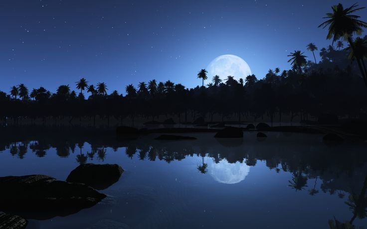 stars n moon: Night Hd, Moon, Nature, Aqua Blue, Google Search, Beautiful, Desktop Wallpapers, Blue Night