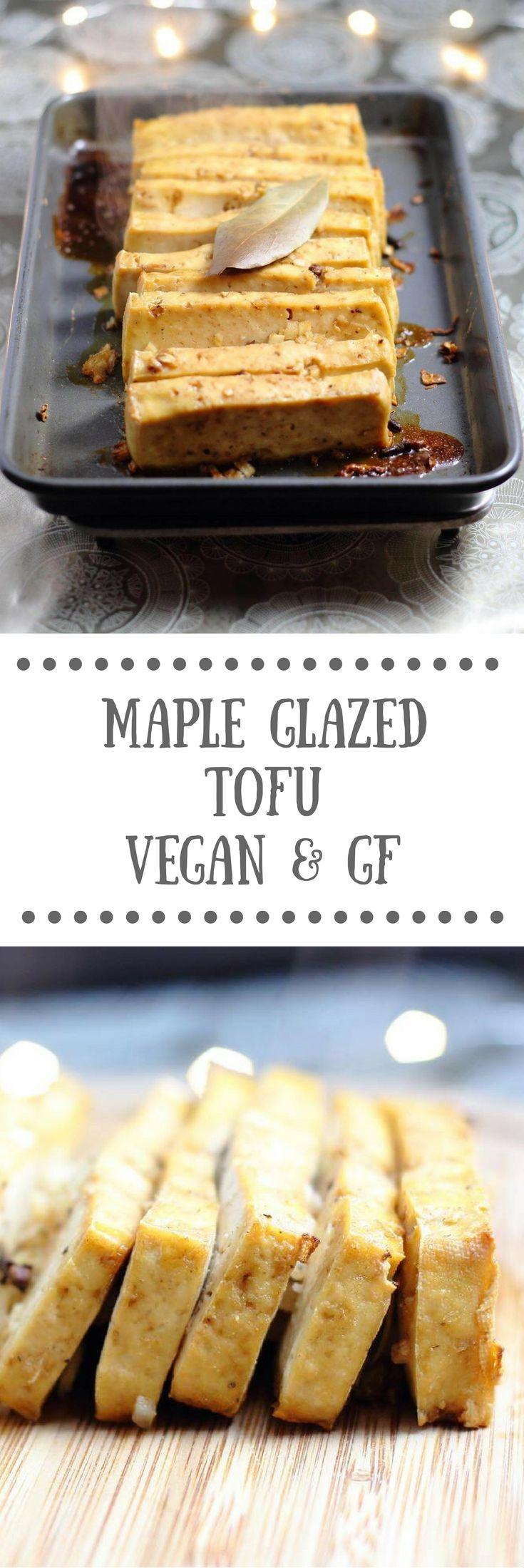 Maple Glazed Tofu - Vegan & Gluten-free Recipe | Perfect for a festive veggie Christmas feast.