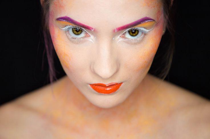 Makijaż artystyczny / Szkoła Wizażu i Charakteryzacji SWiCh / make-up: Anna Leśkiewicz / model: Patrycja Strojek / photo: Anita Kot #makeup #visage #akademia_SWiCh #SWiCh #szkoławizażu #makijaż #wizaż