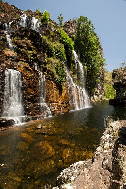 Almácegas Waterfall, Alto Paraíso de Goiás by Visit Brasil on Flickr.