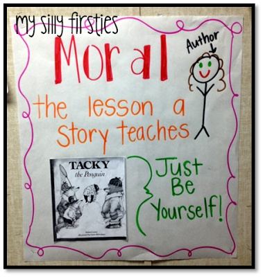 The moral of the story with Tacky the Penguin