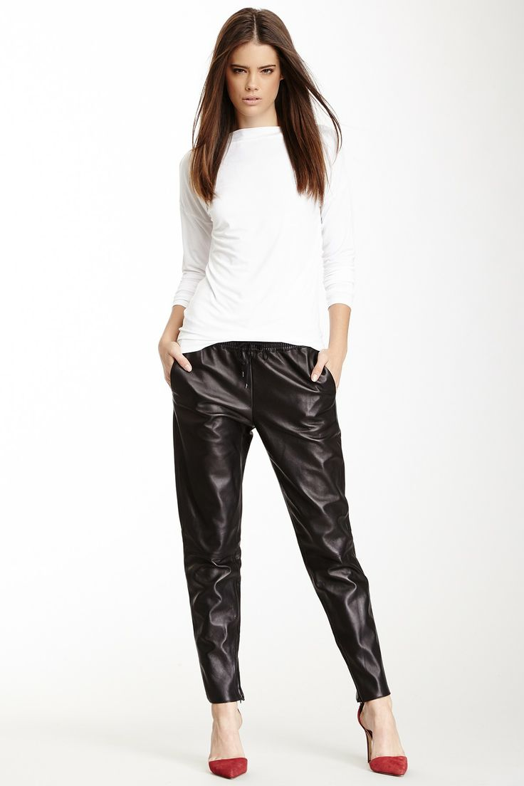 Vince Leather Jogger Pant | obsessed