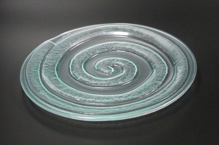 etch glass dinner plate