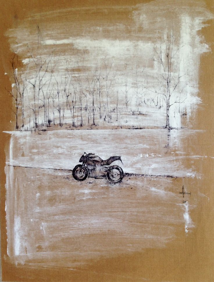 andrea chiaravalli,stop at the river 20011,ink and white chalk on bro paper