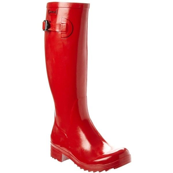 Aigle Aigle Brillantine Rain Boot (397985501) ($80) ❤ liked on Polyvore featuring shoes, boots, knee-high boots, red, red boots, knee high rain boots, aigle boots, aigle and knee boots