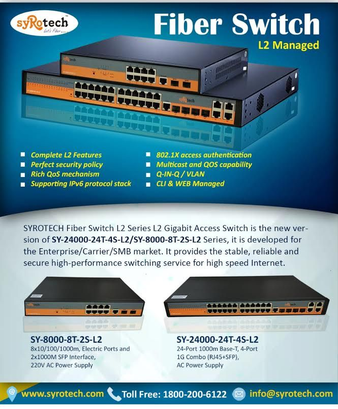 Fiber Switch  L2 Managed | SYROTECH NETWORKS | Latest