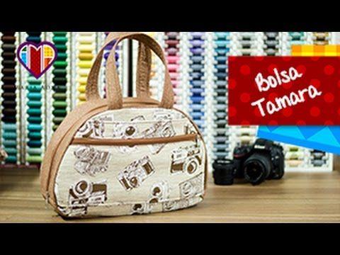 Bolsa em tecidos Tamara - Maria Adna Ateliê - Cursos e aulas de bolsas em tecidos passo a passo - YouTube