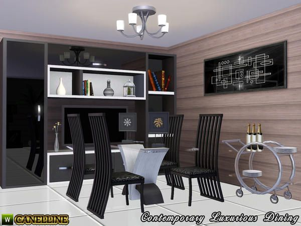 Contemporary Luxurious Dining Room By Canelline   Sims 3 Downloads CC  Caboodle | The Sims 3 | Pinterest | Sims, Sims Resource And Free Sims