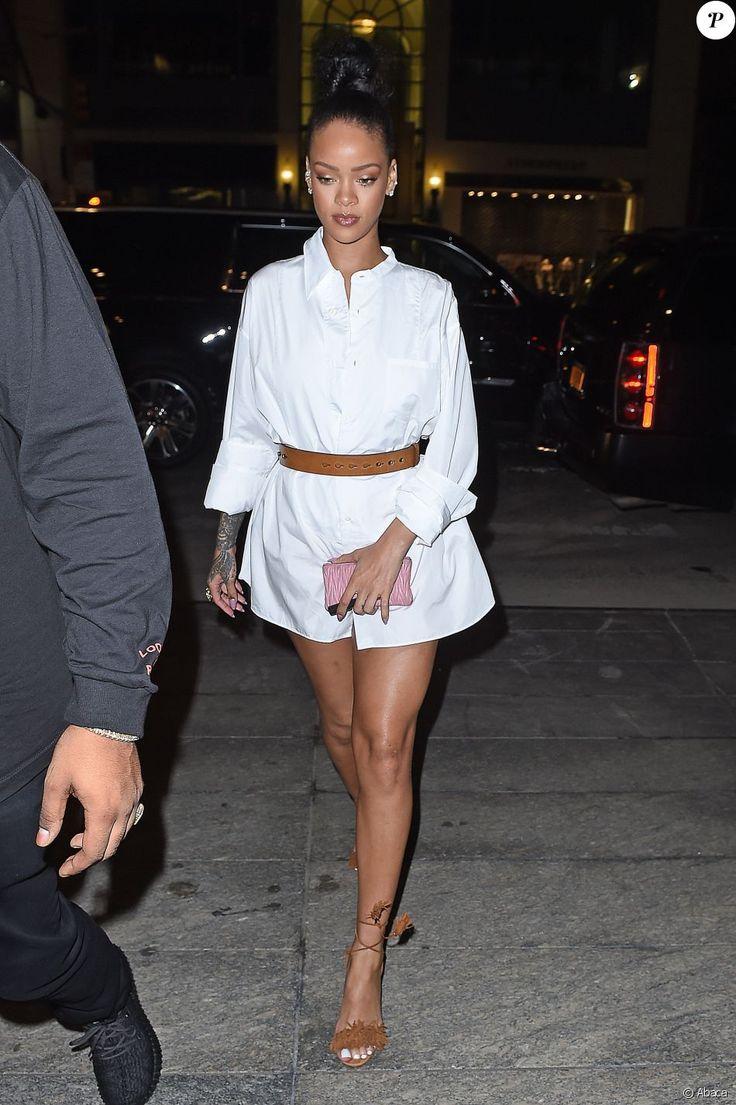 Rihanna et Drake se rendant au restaurant Nobu à New York le 29 août 2016