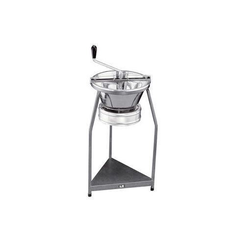 """Tellier P10 15 1/2"""" Diameter Tin-Plated Rotary Food Mill and Stand - 12 Qt. Capacity"""