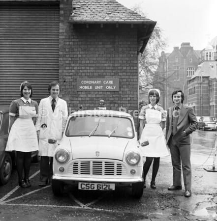 Nurses & Doctors from Coronary Care Mobile Unit Edinburgh Royal Infirmary 1974
