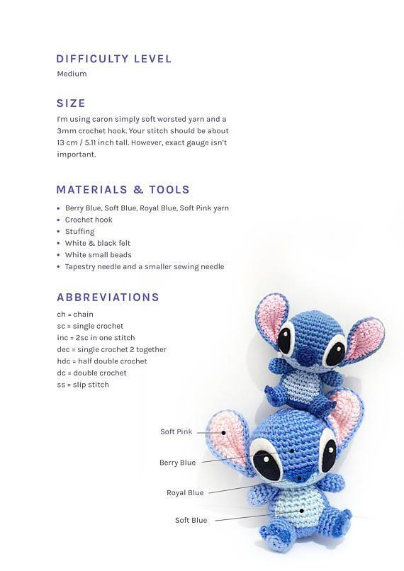 PATTERN: Stitch | mille usi | Pinterest | Patrones amigurumi ...