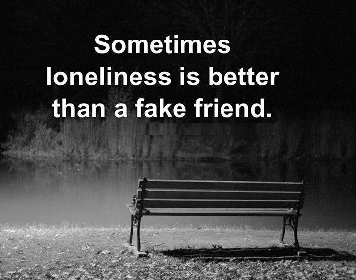 Your solitude is much better than false friends!