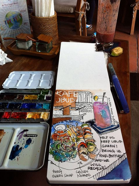 I want to keep a watercolor journal.