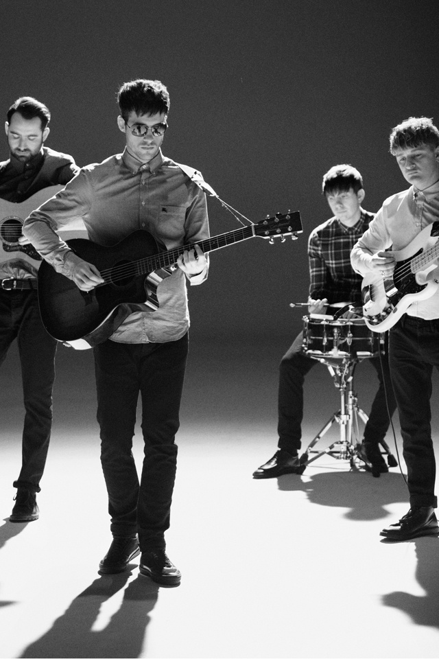 Burberry presents British band Life In Film wearing aviator sunglasses from the Spring/Summer 2012 eyewear collection
