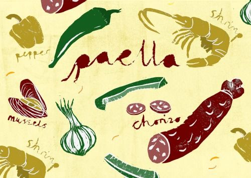 Pattern   Paella   Caroline Young Illustration
