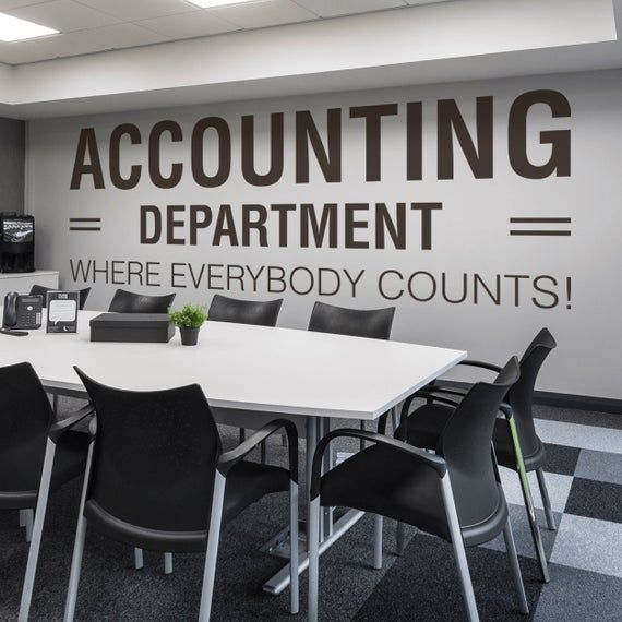 Accounting Department Office Office Wall Art Wall Decal Wall