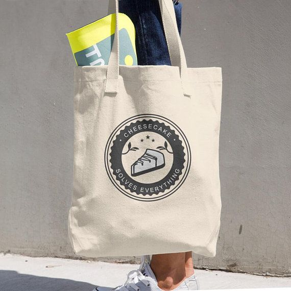 Cheesecake Solves Everything Cotton Tote Bag