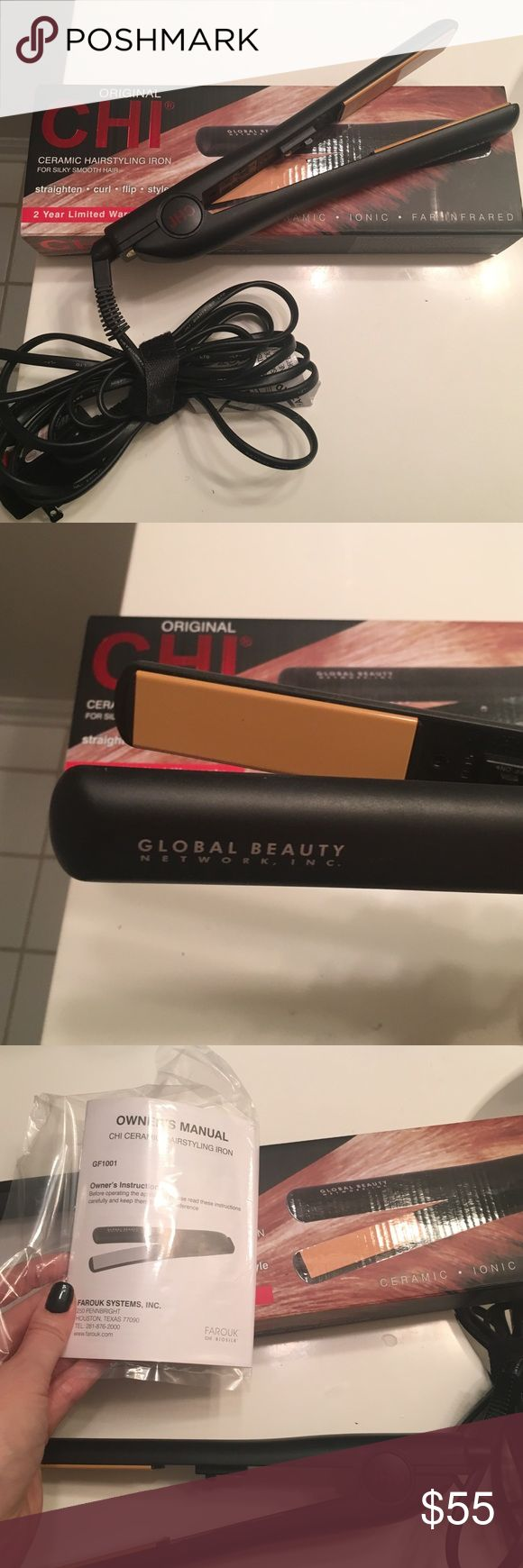 CHI hair straightener Authentic, with original box and paperwork. I have two straighteners because I used to travel for work, so I have no use for this extra one! CHI Accessories Hair Accessories