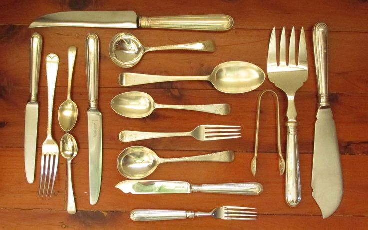 Garrard of London Sterling Silver Flatware & Canteen 108 Pieces in Total.