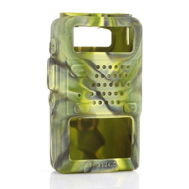 Silicone Soft Case for Baofeng UV-5R/UV-5RA/UV-5R Plus/UV-5RE/UV-5RC/F8+HP GT-3TP Walkie Talkie Ham Radio