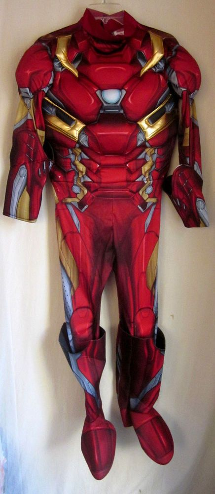 0f29020a9a2 Details about Men s Deluxe Civil War Captain America Costume